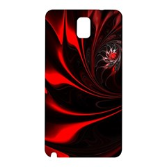 Red Black Abstract Curve Dark Flame Pattern Samsung Galaxy Note 3 N9005 Hardshell Back Case