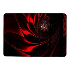 Red Black Abstract Curve Dark Flame Pattern Samsung Galaxy Tab Pro 10 1  Flip Case