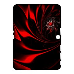 Red Black Abstract Curve Dark Flame Pattern Samsung Galaxy Tab 4 (10 1 ) Hardshell Case  by Nexatart