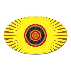 Art Decoration Wallpaper Bright Oval Magnet