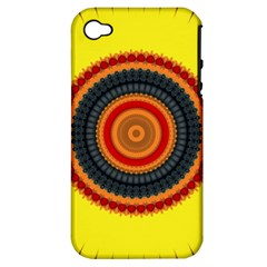 Art Decoration Wallpaper Bright Apple Iphone 4/4s Hardshell Case (pc+silicone) by Nexatart