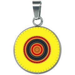 Art Decoration Wallpaper Bright 20mm Round Necklace