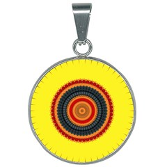Art Decoration Wallpaper Bright 25mm Round Necklace