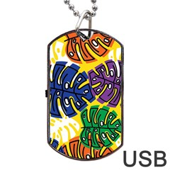 Design Decoration Decor Pattern Dog Tag Usb Flash (two Sides) by Nexatart