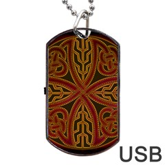Beautiful Art Pattern Dog Tag Usb Flash (two Sides)
