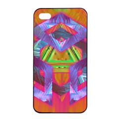 Glitch Glitch Art Grunge Distortion Apple Iphone 4/4s Seamless Case (black)