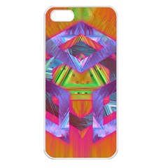Glitch Glitch Art Grunge Distortion Apple Iphone 5 Seamless Case (white)