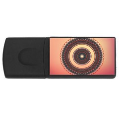 Ornamental Shape Concentric Round Rectangular Usb Flash Drive