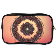 Ornamental Shape Concentric Round Toiletries Bag (two Sides)