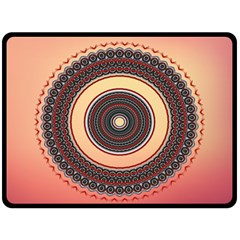 Ornamental Shape Concentric Round Fleece Blanket (large)  by Nexatart
