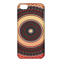 Ornamental Shape Concentric Round Apple Iphone 5c Hardshell Case by Nexatart