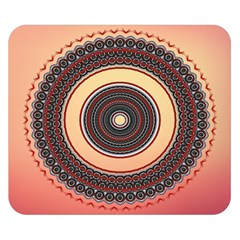 Ornamental Shape Concentric Round Double Sided Flano Blanket (small)  by Nexatart