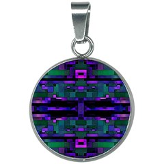 Abstract Pattern Desktop Wallpaper 20mm Round Necklace