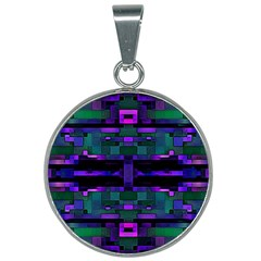 Abstract Pattern Desktop Wallpaper 25mm Round Necklace
