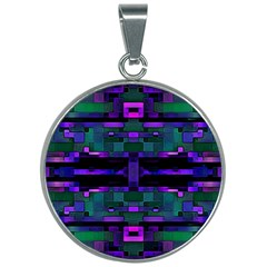 Abstract Pattern Desktop Wallpaper 30mm Round Necklace