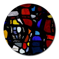 Art Bright Lead Glass Pattern Round Mousepads