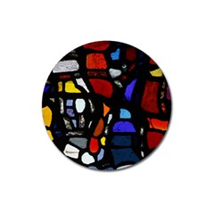 Art Bright Lead Glass Pattern Magnet 3  (round)