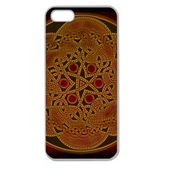 Beautiful Art Pattern Apple Seamless Iphone 5 Case (clear)