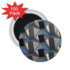 3d Pattern Texture Form Background 2 25  Magnets (100 Pack)
