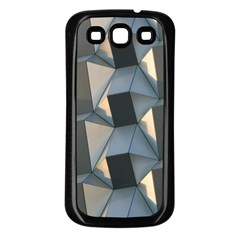3d Pattern Texture Form Background Samsung Galaxy S3 Back Case (black)