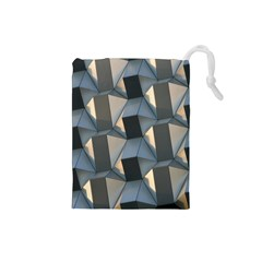 3d Pattern Texture Form Background Drawstring Pouch (small)