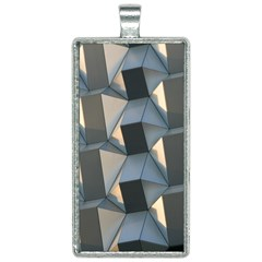 3d Pattern Texture Form Background Rectangle Necklace