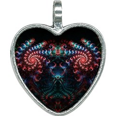 Background Texture Pattern Heart Necklace