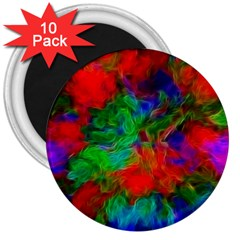 Color Art Bright Decoration 3  Magnets (10 Pack)