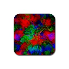 Color Art Bright Decoration Rubber Square Coaster (4 Pack)  by Nexatart