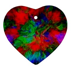 Color Art Bright Decoration Heart Ornament (two Sides)
