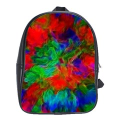 Color Art Bright Decoration School Bag (large)