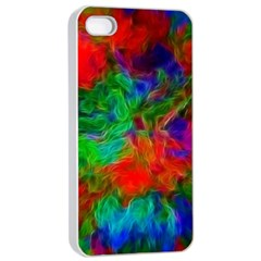 Color Art Bright Decoration Apple Iphone 4/4s Seamless Case (white)