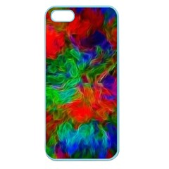 Color Art Bright Decoration Apple Seamless Iphone 5 Case (color)