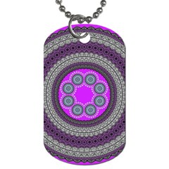 Round Pattern Ethnic Design Dog Tag (two Sides)