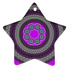 Round Pattern Ethnic Design Star Ornament (two Sides) by Nexatart