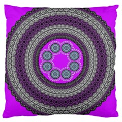 Round Pattern Ethnic Design Large Cushion Case (one Side)