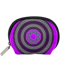 Round Pattern Ethnic Design Accessory Pouch (small) by Nexatart