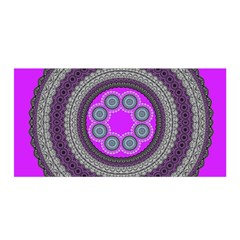 Round Pattern Ethnic Design Satin Wrap by Nexatart
