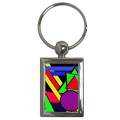 Background Color Art Pattern Form Key Chains (rectangle)