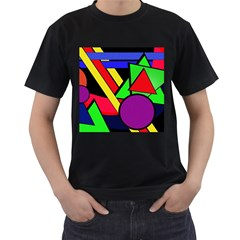 Background Color Art Pattern Form Men s T-shirt (black) (two Sided) by Nexatart