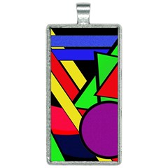 Background Color Art Pattern Form Rectangle Necklace