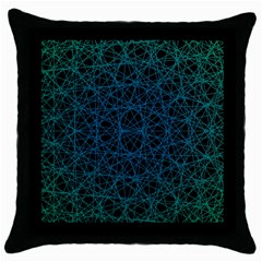 Background Lines Pattern Line Art Throw Pillow Case (black)