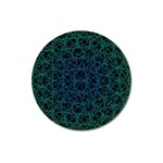 Background Lines Pattern Line Art Magnet 3  (Round) Front