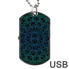 Background Lines Pattern Line Art Dog Tag Usb Flash (two Sides)