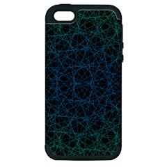 Background Lines Pattern Line Art Apple Iphone 5 Hardshell Case (pc+silicone)