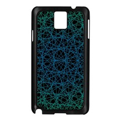Background Lines Pattern Line Art Samsung Galaxy Note 3 N9005 Case (black)