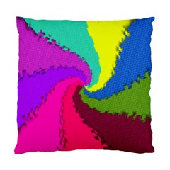 Art Abstract Pattern Color Standard Cushion Case (one Side)