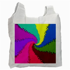 Art Abstract Pattern Color Recycle Bag (one Side)