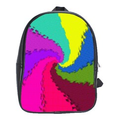 Art Abstract Pattern Color School Bag (xl)