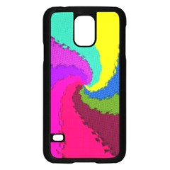Art Abstract Pattern Color Samsung Galaxy S5 Case (black)